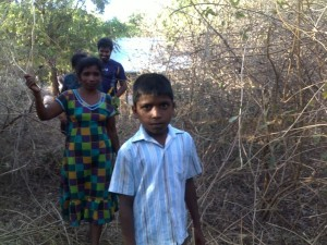 Rajini an one of her son trying to reach home