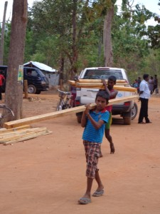 Taking home the wood from UNHCR