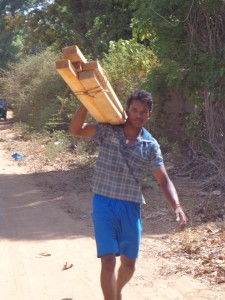 Taking home the wood from UNHCR 2