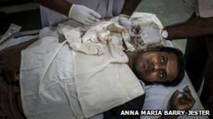 Sampath Kumarasinghe before a dialysis session