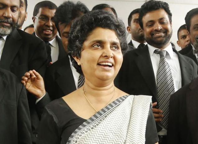 NOT PAKISTAN: The number of supporters on Shirani Bandaranayake's side is still very few and far from the required critical mass for a movement to defend the independence of the judiciary. File Photo
