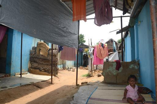 File photo of the refugee camp for Sri Lanka Tamils at Kullanchavadi inTamil Nadu, revfealing lack of basic facilities. Photo: C. Venkatachalapathy