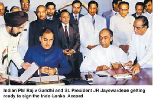 rajiv gandhi and JR
