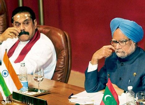 President Rajapaksa & Prime Minister Manmohan Singh-file pic- via PTI