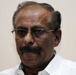 Mavai S. Senathiraja urges international community to put pressure on the Sri Lankan Government to rebuild the devastated areas.— Photo: G. Krishnaswamy