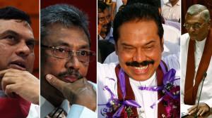 The Rajapaksa brothers (left to right: Basil, Gotabaya, Mahinda, Chamal)