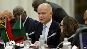 British Foreign Minister William Hague at the Commonwealth foreign ministers meeting on the sidelines of the Commonwealth Heads of Government Meeting (CHOGM) in Colombo