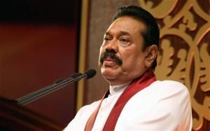 Mahinda Rajapaksa, the Sri Lankan president