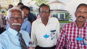 Former teacher Murugesu, left, and Krisnapillai Manoharan, right