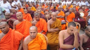 Buddhist rally in southern Sri Lanka, 15 June 2014