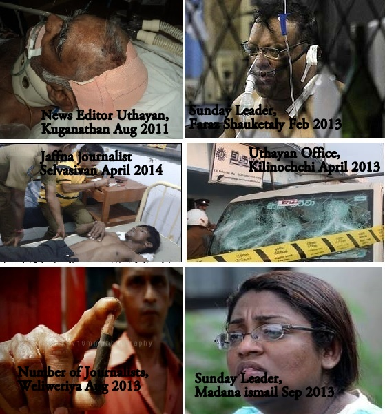 Journalists attacked in recent years