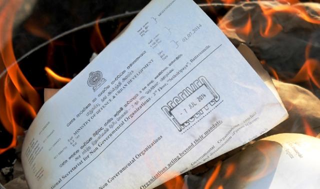 Activist burned govt circuler restriting NGOs