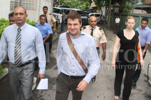 Diplomats leaving the venue