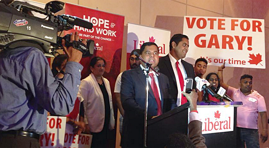 Gary Anandasangaree won the nomination for the Liberals in Scarborough Rouge Park.