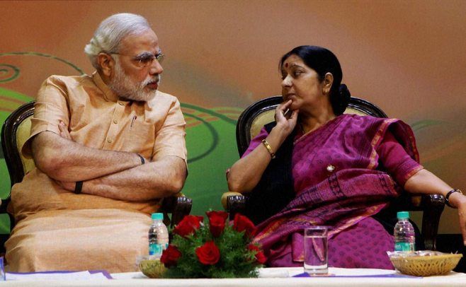 Prime MinisterNarendra Modi and External Affairs Minister Sushma Swaraj