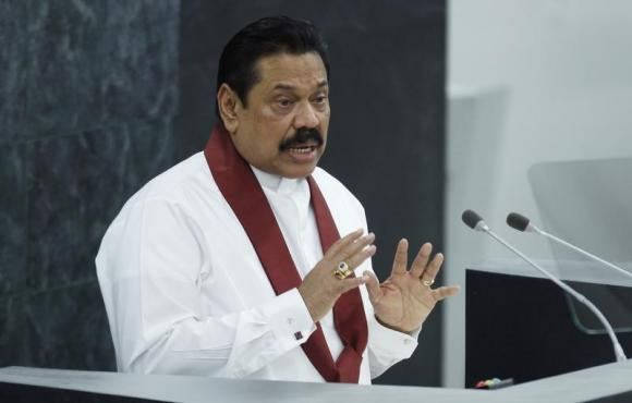 Sri Lanka's President Mahinda Rajapaksa addresses the 68th United Nations General Assembly at U.N. headquarters in New York