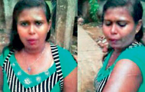 Kanthilatha, the sex worker in Ratnapura, who was assaulted by a cop