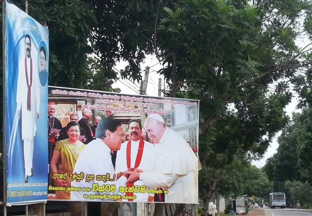 Heavy propaganda using Pope by Rajapaksa
