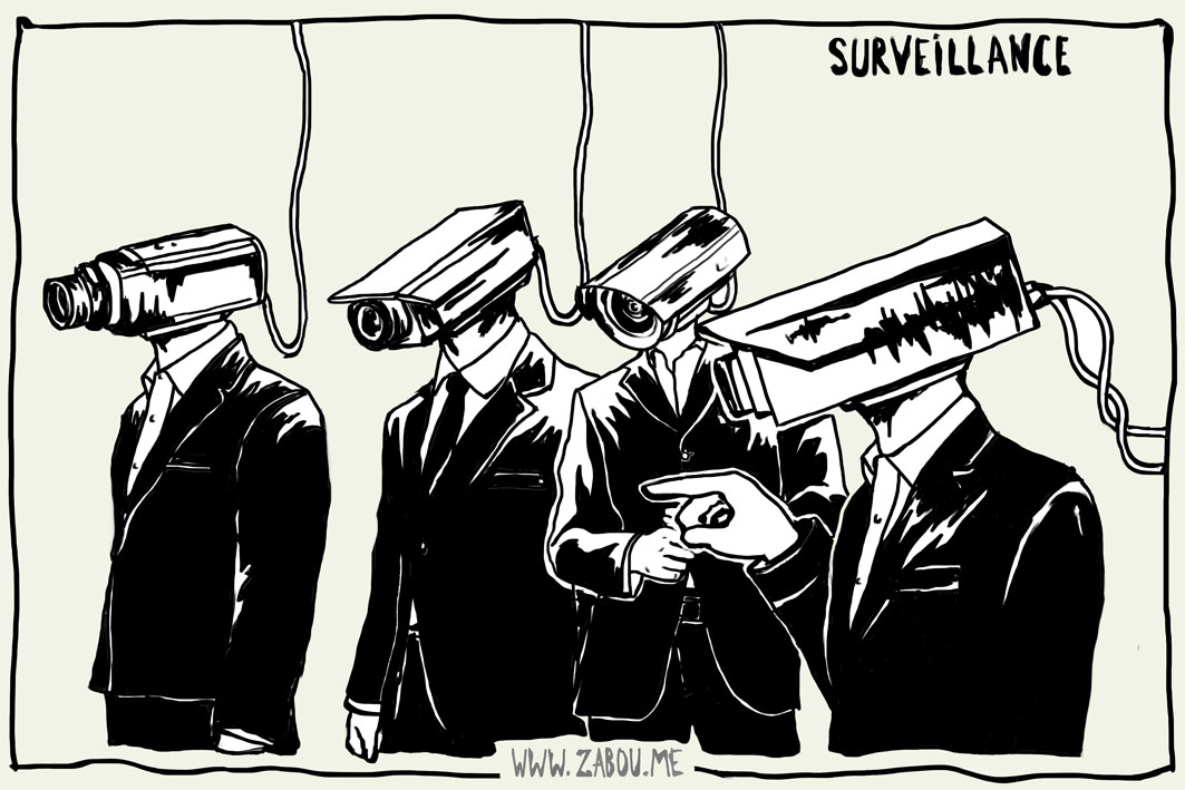 "Title: ""Surveillance""  //  Made with: Graphics Tab, Photoshop CS5  //  2012"