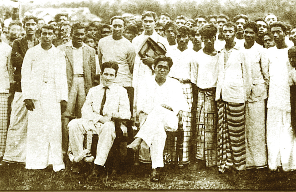 LSSP leaders at Horana with Bracegirdle, circa 1937