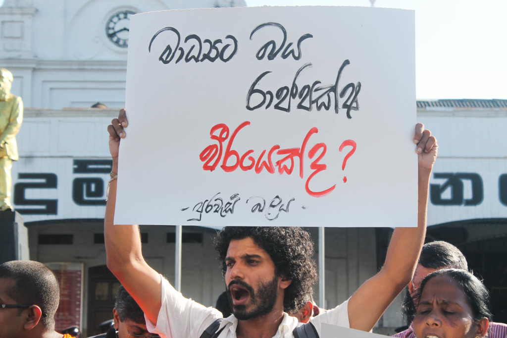 Is Rajapaksa, who is afraid of media a hero?