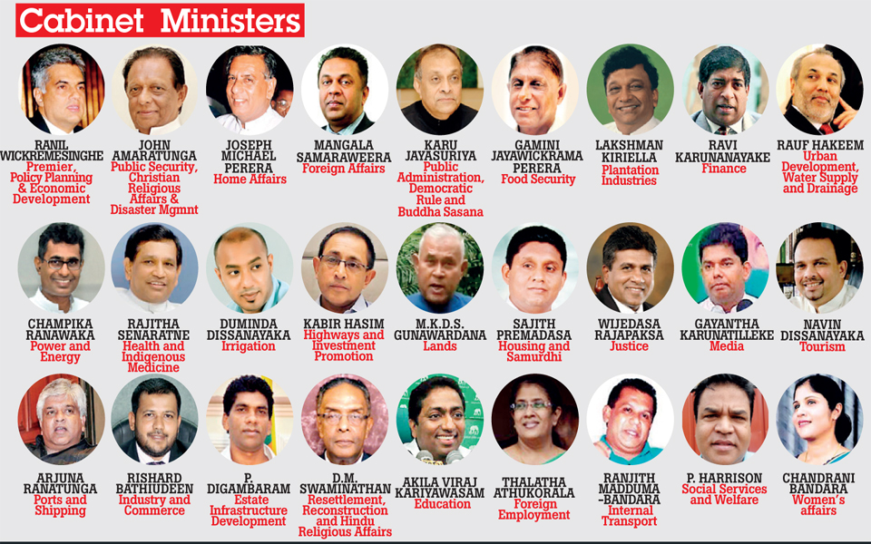 Cabinet of ministers, Daily Mirror graphic