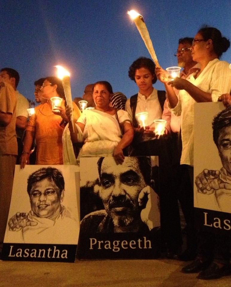 Sandya Eknaligoda at the vigil