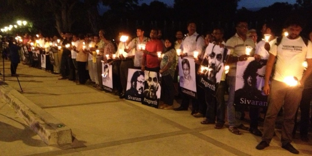 Hundreds of people participated in the Vigil