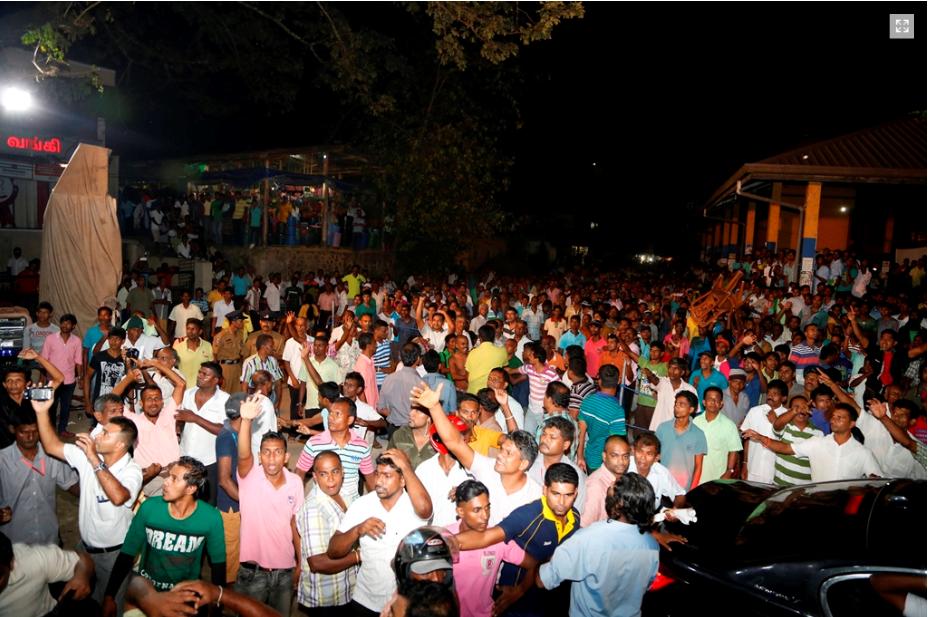 around 20,000 people were at the meeting,says Sirisena