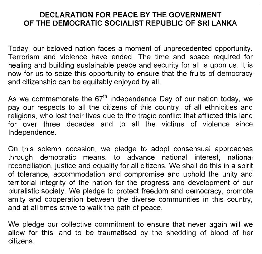 Declaration of Peace