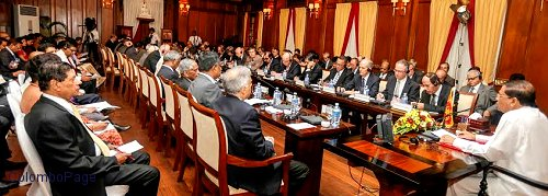 President meeting diplomatic community  in Colombo
