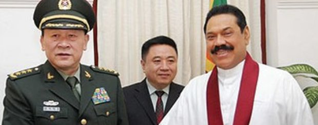 chinese-defence-minister-with-president-rajapaksa