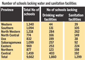 There are many schools without toilet facilities