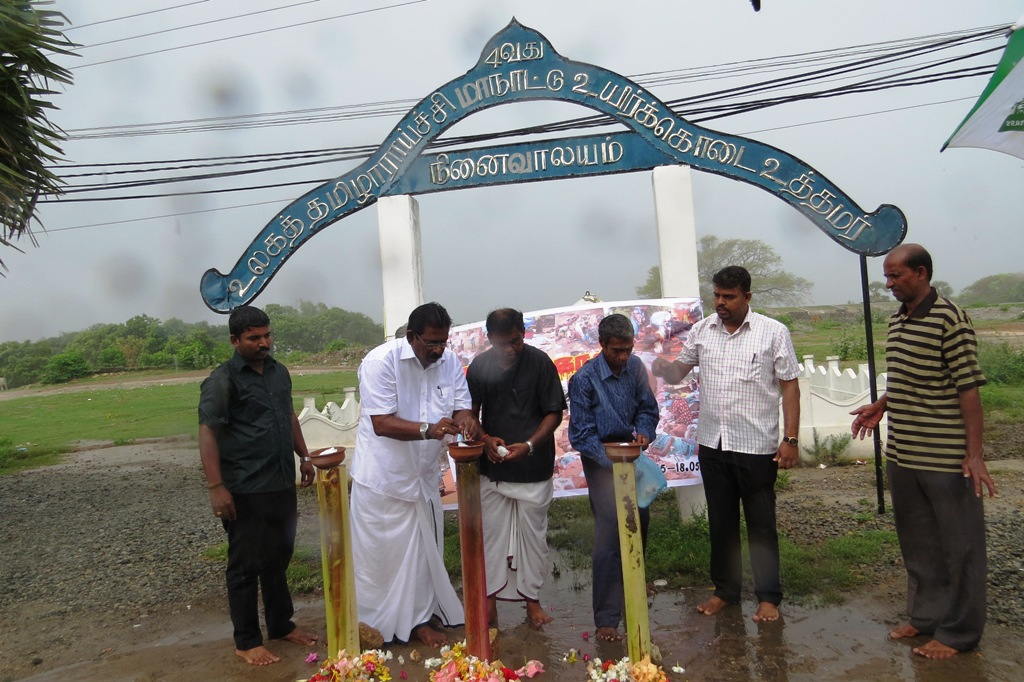 A remembrance event in Jaffna, 15th May 2015 ( Photo: Tamil Guardian)
