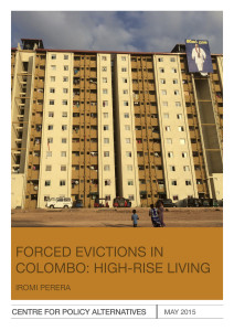 Forced eviction in Colombo: The report cover