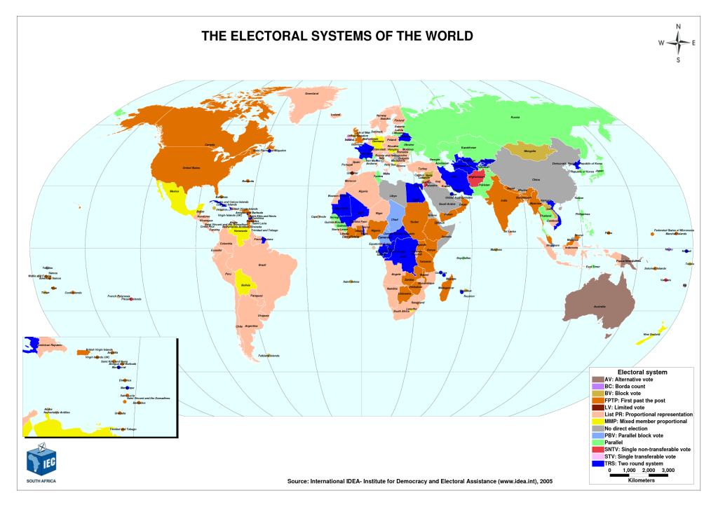 Electoral systems in the world
