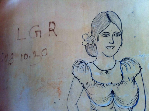 Photo: Amantha Perera/IRIN Graffiti left by soldiers