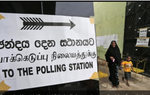 Voting in Sri Lanka