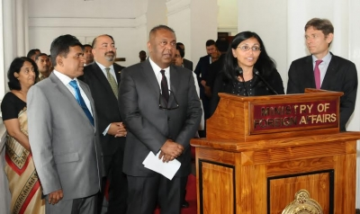 US Assistant Secretary of State for South and Central Asian Affairs Nisha Biswal in Colombo