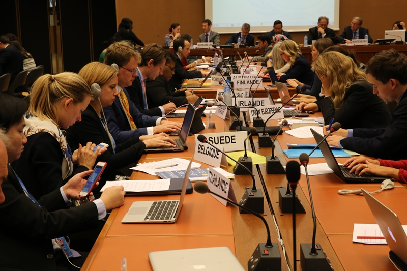 The first informal discussion on the drat, only dozens of countries spoke. ©s.deshapriya