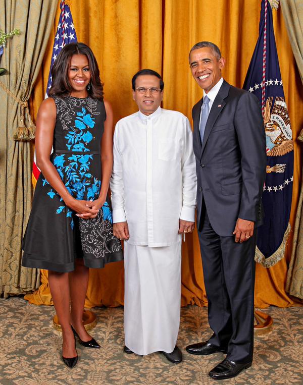 President Obama  praises President Sirisena