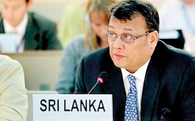 Minister Samarasinghe at the UNHRC