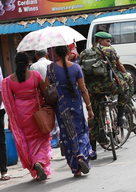 Jaffna, July 2015, Military still petrol the streets © s.deshapriya