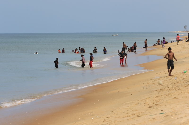 Tamil people enjoy the Mullivaikkal beach, where 100s died at the lat days of the war, July 2015 ©s.dshapriya