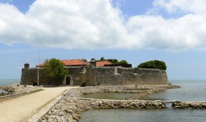 The Dutch-built 17th century Fort Hammenhiel which is now used as an upmarket tourist hotel run by Sri Lanka's navy in the northern city of Jaffna (AFP Photo
