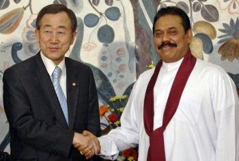 Rajapaksa and Ban ki-Moon agreed ..