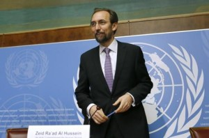 Zeid al-Hussein High Commissioner for Human Rights agreed to postpone the OISL report to give new govt time