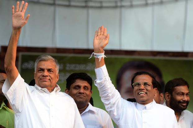 President Sirisena is walking a tight rope as leader of a party that actually campaigned against him.