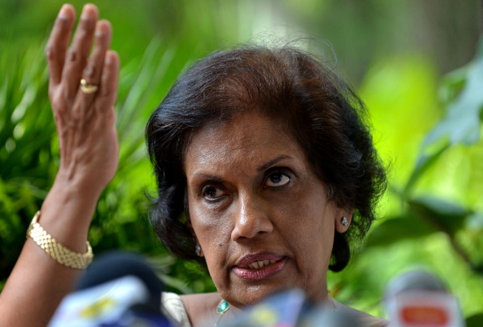 Former president Chandrika Kumaratunga, who heads the office of national unity and reconciliation, said her work cannot be done without justice for victims of the 37-year conflict that ended in May 2009 (AFP Photo/Ishara S. Kodikara)