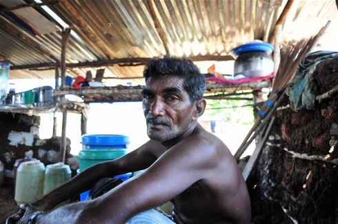 Photo: Amantha Perera/IRIN Former Tamil Tiger Sivalingam Ruvendradass has been jobless since returning to Vallipuram after his release from a government run rehabilitation programme